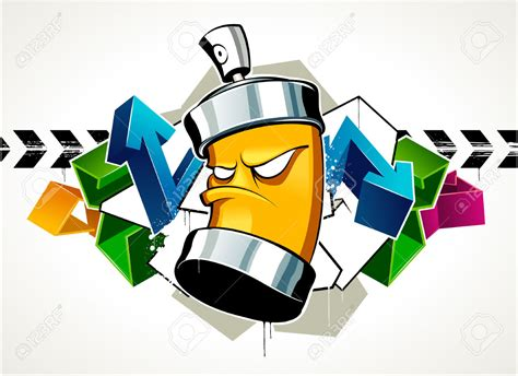 spray paint dosen 6189000 cool graffiti image with can stock vector graffiti
