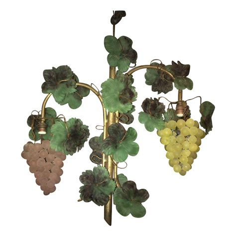 l shades with grapes 3 vintage glass beaded grape shade cluster fruit