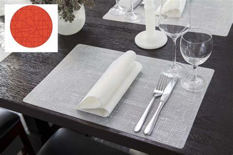 set de table set de table silicone mandarine 30 x 45 cm duni paquet de 6