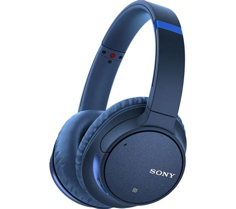buy sony wh chn wireless bluetooth noise cancelling headphones blue  delivery currys