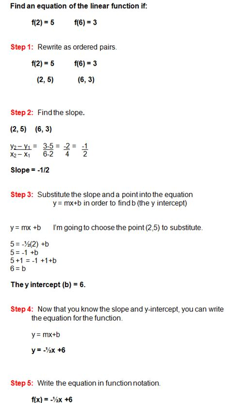 exle of linear function linear functions and finding slope