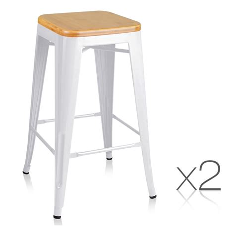 replica tolix bar table with 3 tolix stools chairforce set of 2 replica tolix kitchen bar stool bamboo seat 66cm
