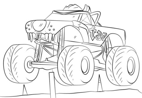 easy monster truck coloring page  coloring pages