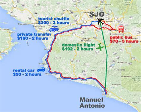 san jose flight map saving money using buses