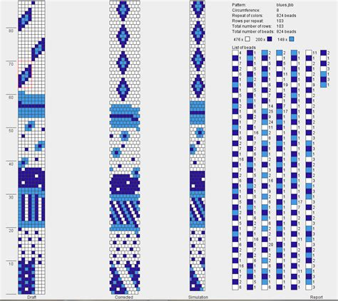 bead pattern design software free bead crochet sarajane s polyclay gallery