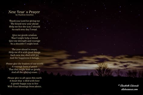 new year s prayer poem e liz treasures