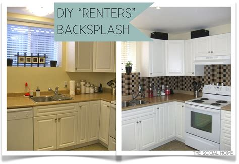 temporary kitchen backsplash top 10 diy projects for renters top inspired