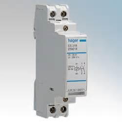 hager 1 module 2no contactor 20a 230v 50hz es220