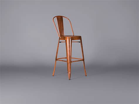 Copper Metal Bar Stools by Metal Bar Stool With Back Burnished Copper Stools