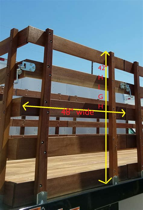 stake bed parts 42 quot h x 48 quot w hardwood stake gate kit marathon truck parts