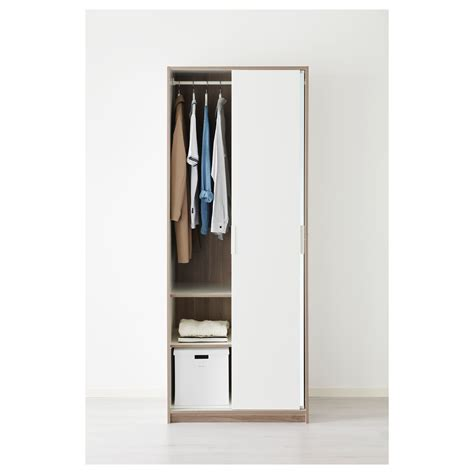 ikea armoire with mirror trysil wardrobe white mirror glass 79x61x202 cm ikea