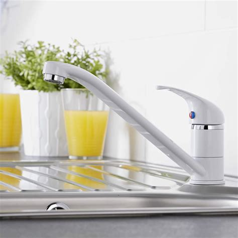 lavello bianco rubinetto miscelatore lavello cucina bianco