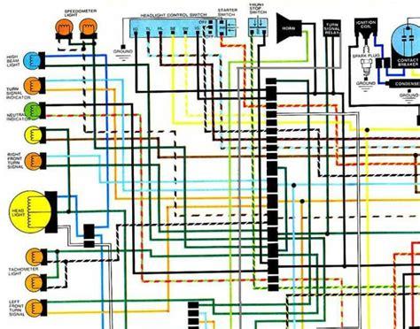 purchase honda cb360 cj360 cl360 1974 1977 color wiring