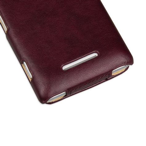 Flip Cover Sony Xperia M M E for sony xperia m imuca luxury flip leather