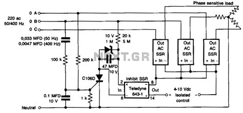 phase sequence indicator circuit diagram three phase sequence indicator circuit diagram find and