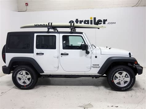 Paddle Board On Jeep Wrangler Jeep Wrangler Unlimited Thule Sup Shuttle Stand Up