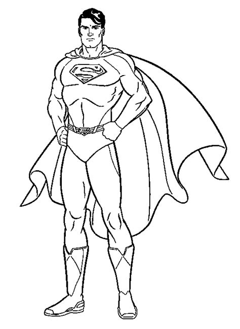 Black And White Superman Drawing Superman Coloring Page Colouring Pages Of Black And White