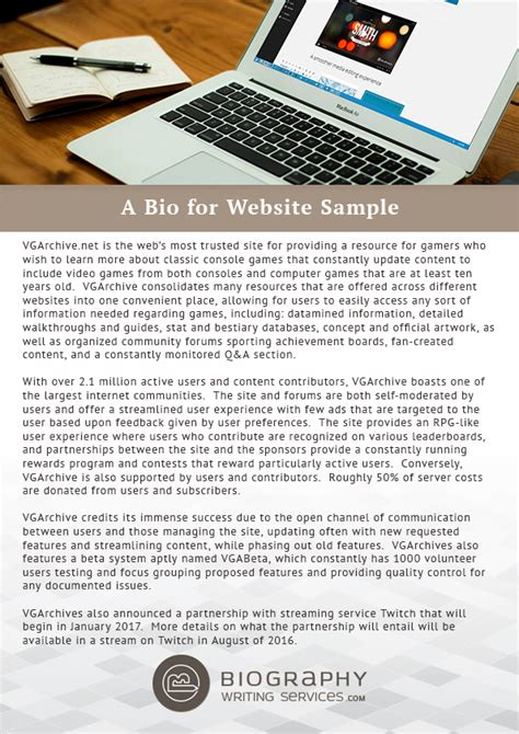 biography exles for websites how to write a website biography