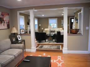 How To Remove Kitchen Wall Cabinets Neutral Family Room With Pops Of Orange Opens Up Into More Formal Living Room Living Room