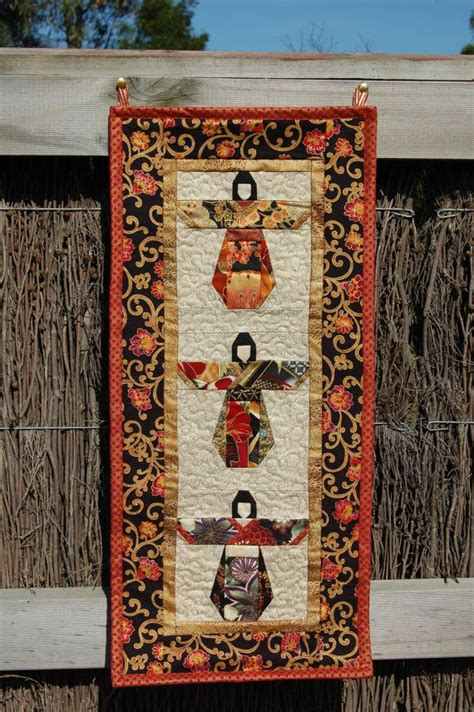 geisha wall hanging quilt