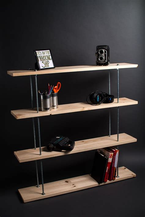 diy threaded rod shelving jayjohnsonswebsite