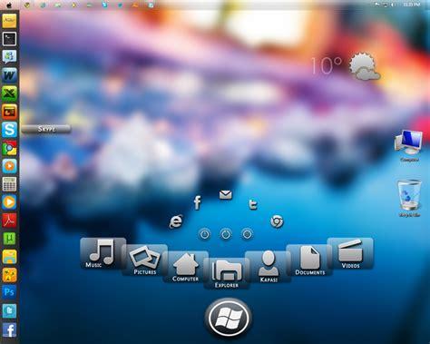 windows 7 desktop themes rainmeter windows 7 with rainmeter skins by kaps1991 on deviantart