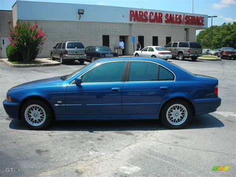 2001 bmw 525i 2001 topaz blue metallic bmw 5 series 525i sedan 53673109