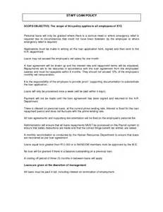 Staff Loan Agreement Letter Employee Loan Agreement Form Images