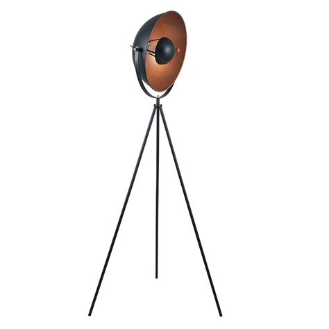 black  copper tripod floor lamp