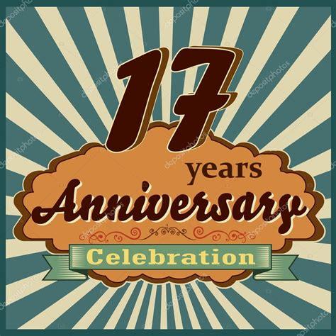 17 in years 17 years anniversary stock vector 169 atulvermabhai 59447635