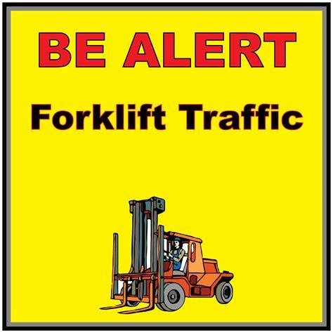Sticker Safety Sign Forklift Traffic Area Caution Forklift Traffic Yellow Anti Slip Floor Sticker