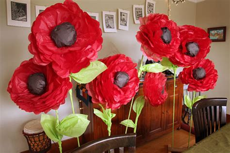 How To Make Poppies Out Of Tissue Paper - tissue paper poppy flowers how to make