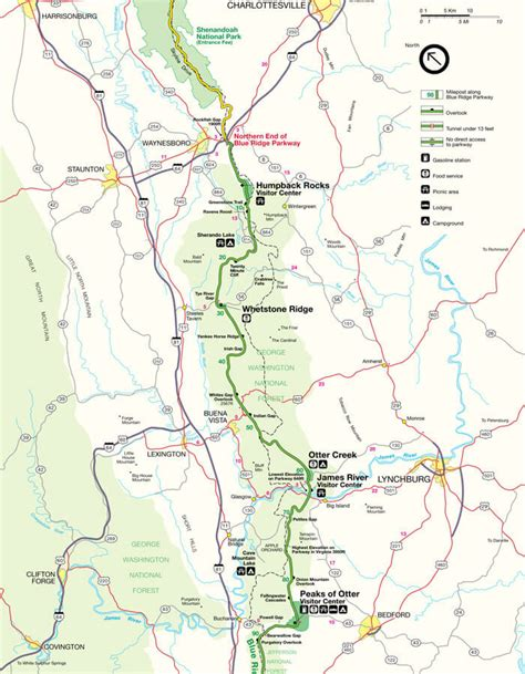 map of blue ridge parkway blue ridge parkway maps