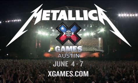 Metallica Sweepstakes - win passes to austin x games metallica