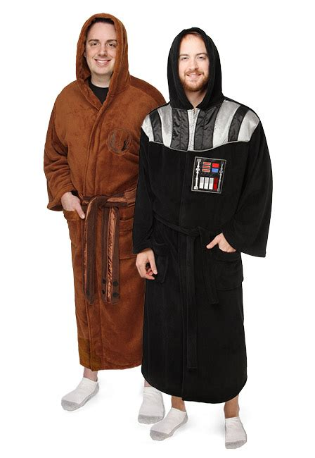 jedi fleece robe jedi darth vader fleece robes thinkgeek