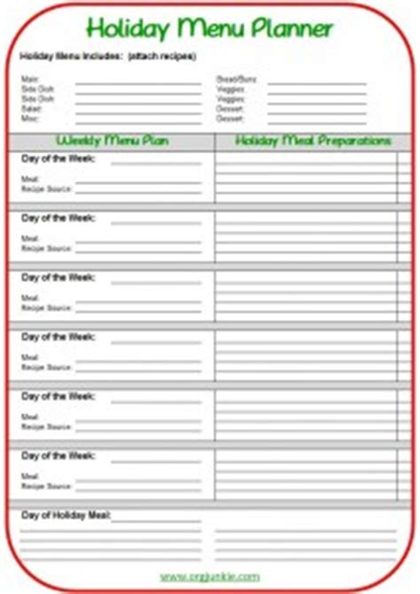 printable holiday meal planner holiday meal planning made easy free printable