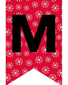 merry christmas flag letters banners cute freebies
