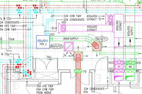 heating cooling and ventilation layout