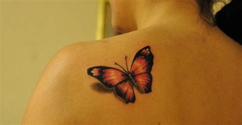 small back shoulder butterfly tattoo for men tattooshunt com