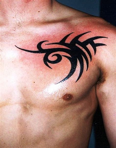 tattoo designs shoulder to chest tribal chest tattoos designs ideas and meaning tattoos