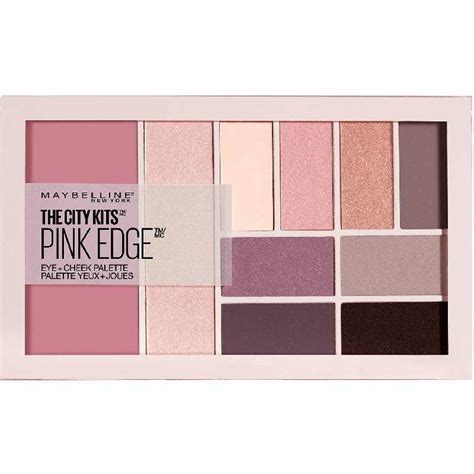 Maybelline Kit maybelline the city kits pink edge eye cheek palette 12