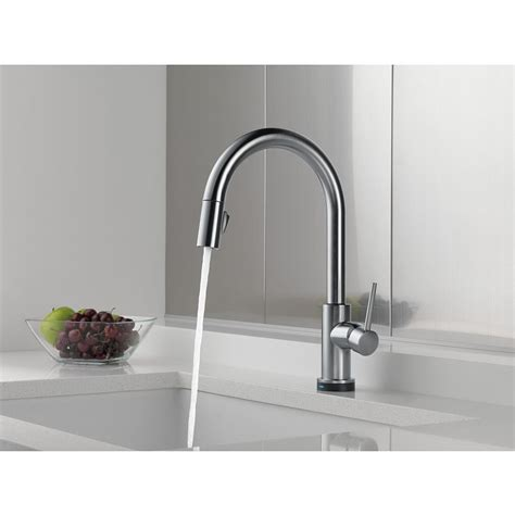 delta touch2o kitchen faucet delta trinsic single handle pull kitchen faucet featuring touch2o 174 technology