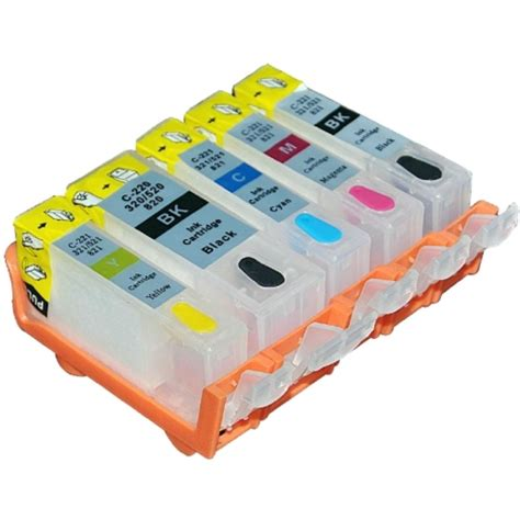 Chip Pisah Autoreset Canon Mg5170 1 Set set empty refillable cartridges for canon pixma mg5350 with auto reset chips arc ebay