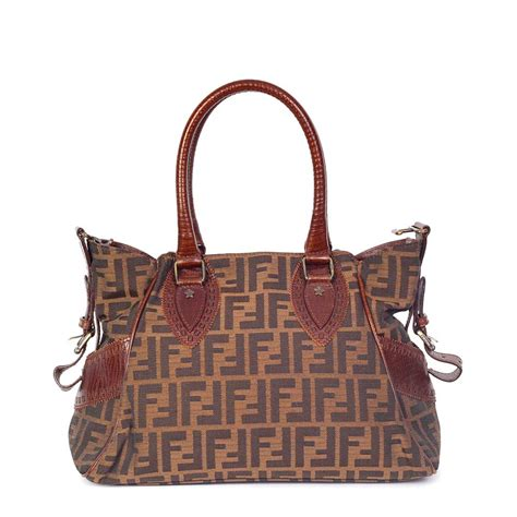 Fendi Bag Du Jour Purse by Fendi Zucca Bag De Jour Tobacco Small Luxity