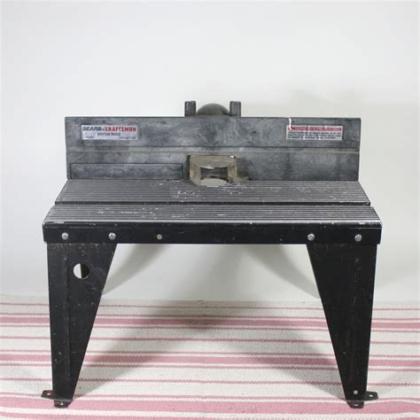 craftsman router table steel construction black usa