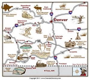 colorado tourism map colorado tourist map my