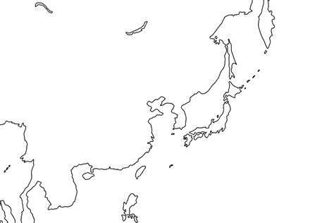 blank map of asian countries blank map of asia during wwii