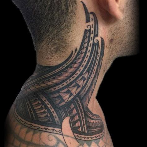 tribal neck tattoos for men 40 tribal neck tattoos for manly ink ideas