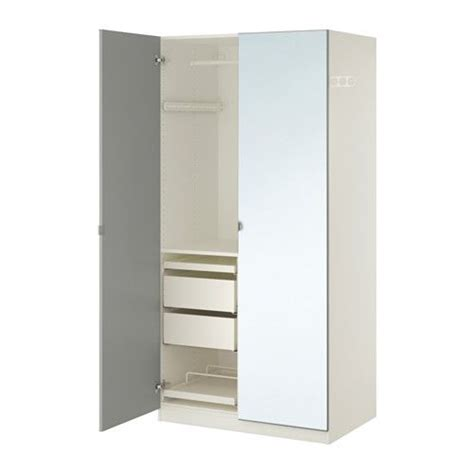 ikea armoire with mirror pax wardrobe white vikedal mirror glass 100x60x201 cm