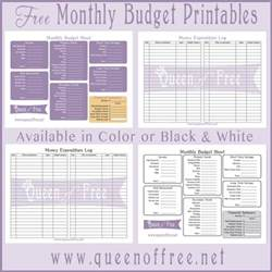 Free Budget Templates Printable by Free Printable Budget Forms Of Free